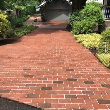 Brick Driveway Pressure Washing on Terrace Dr. in Lake Oswego, OR